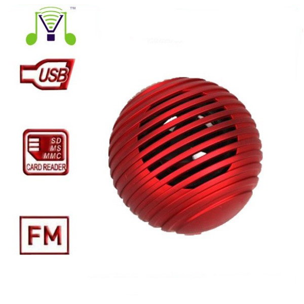 Mini JYM-J3 Card Reader FM Radio Speaker-Red