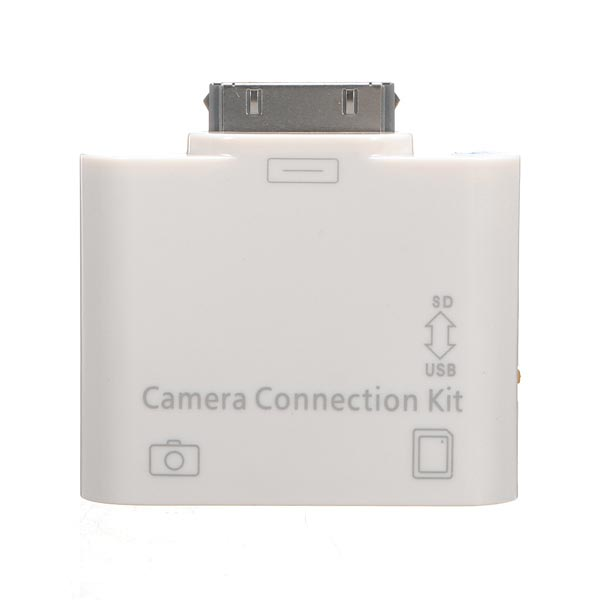 2 in 1 SD Card Reader USB Camera Connection Kit For iPad