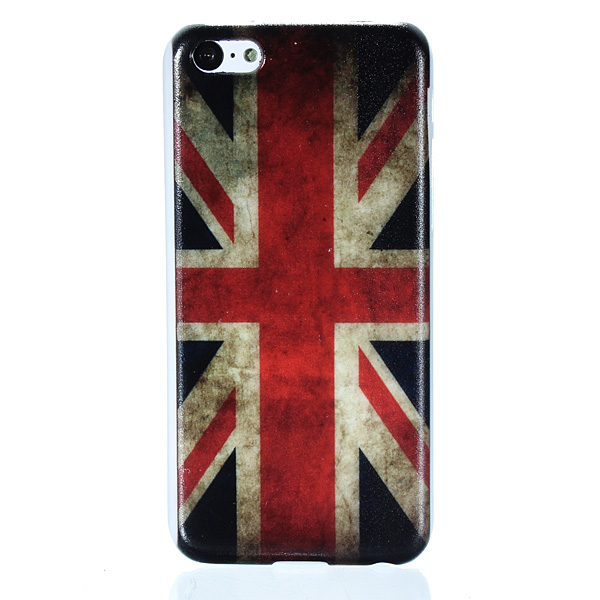 Retro Vintage Multi National Flag Series Hard Back Case For iPhone 5C