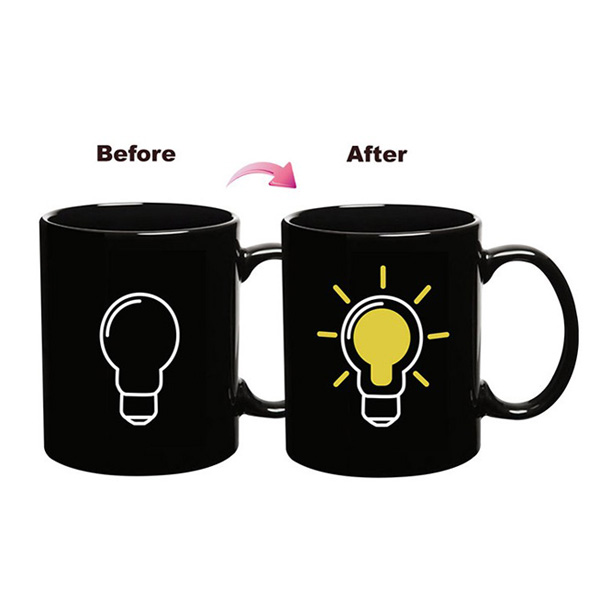 Ceramic Bulb Building Block Mug Coffee Tea Color Changing Cup