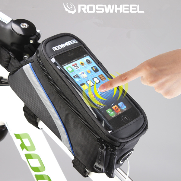 ROSWHEEL 4.8'' 5.5'' Bicycle Touchscreen Phone Bag Frame Tube Bag