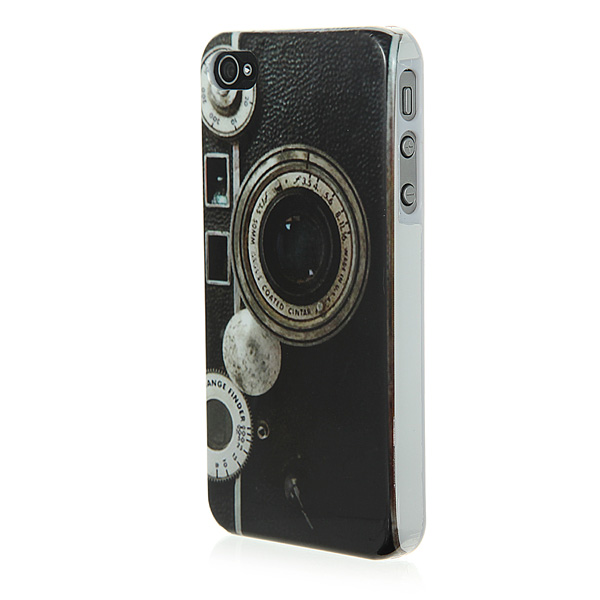 Retro Old Antique Camera Hard Back Case Screen Protector For iPhone 4