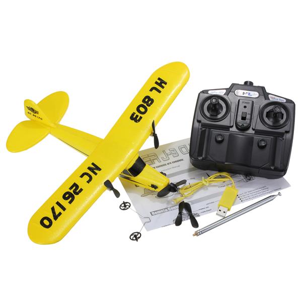 HuaLe HL803 PIPER J3 CUB NC26170 Remote Control RC Airplane RTF