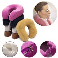 U-Shape Slow Rebound Memory Foam Pillow Neck Protect Headrest Travel Soft Cushion