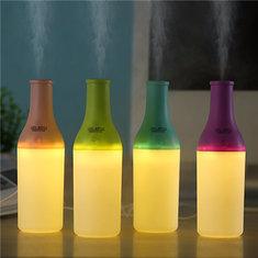 Мини-Winebottle в форме увлажнителя спа ароматерапии диффузоры теплый свет USB эфирное масло расслабляющий