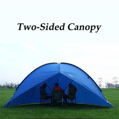 Outdoor Large Two-sided Canopy Awning Tent Beach Sun Shade Rainproof UV-proof For Camping Hiking