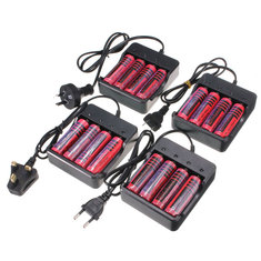 4pcs 4.2V 18650 3800mAh Li-ion Rechargeable Battery+ 18650 Universal Charger