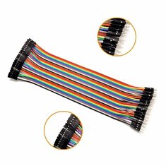 40X 30cm Colorful Male To Female DuPont Jumper Wire Cable