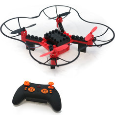 TFS T14 WIFI FPV With 0.3MP Camera Altitude Mode 2.4G 4CH DIY Building Blocks RC Quadcopter RTF