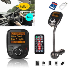 Bluetooth Car Auto Handsfree FM Transmitter Modulator TF MP3 Player USB Charger