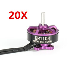 20X Racerstar Racing Edition 1103 BR1103 6500KV 1-2S Brushless Motor Purple For 50 80 100 Multirotor