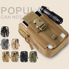 5.5/6 Inch Men Tactical Waist Bags Outdoor Sport Mobile Phone Case for Iphone SAMSUNG