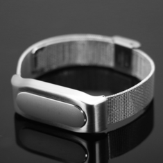 Mi-jobs Stainless Steel Replacement Wristband Band Strap for Xiaomi Miband 1S