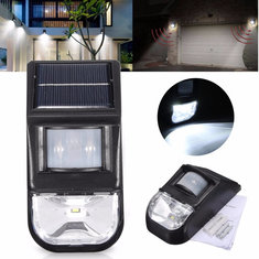 Solar Powered PIR Motion Sensor LED Wall Light Outdoor Garden Security Lamp