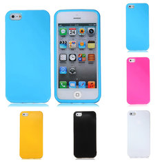 Jelly Glossy Soft TPU Rubber Gel Silicone Back Case Cover For iPhone 5