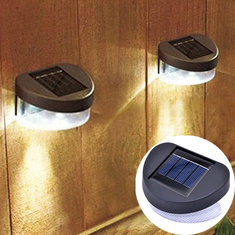 Outdoor Solar Powered LED Path Yard Wall Landscape Garden Fence Lamp