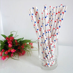 25pcs Star Paper Drinking Straws Biodegradable Drinking Straw Wedding Party