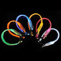 LED Dog Pet Flashing Light Up Safety Collar Multi-Color