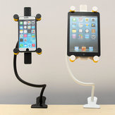 360 Degree Rotating Bed Table Mount Clip Holder Stand For Tablet