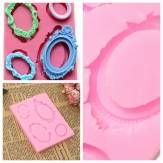 Silicone Mirror Frame Cake Chocolate Mold Baking DIY Decorating Mould