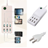 6 USB Outlet Power Strip Desktop Wall Charger Adapter For iPhone iPad