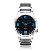 Curren 8111 Black Dial Stainless Steel Silver Band Men Wrist Watch