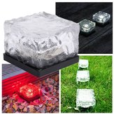 Solar Waterproof Color-Changing Ice Blocks LED Outdoor Garden Path Light Lamp