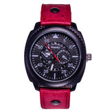 WEESKY Men PU Leather Band Analog Quartz Sport Wrist Watch