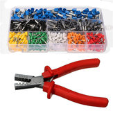 800Pcs Insulated Wire Connector Cord Pin End Terminal With Crimper Plier