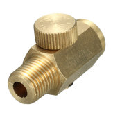 1/4 Inch NPT Air Pressure Valve Inline Regulator Solid Brass Compressed Air Pressure Valve