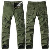 Big Size Thick Fleece Cargo Pants Winter Mens Casual Cotton  Trousers Pants
