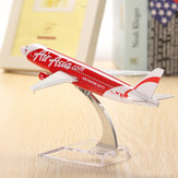 Original WH A320 Air Aisa Red Aircraft Model 16cm Airline Aeroplan Diecast Model Collection Decor