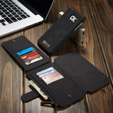 CaseMe Removable PU Zipper Wallet Card Case Cover For Samsung Galaxy S6 Edge