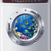 3D Cartoon Wall Sticker Underwater World Decal Chidren DIY PVC Decal Sealife Fish Ocean Window