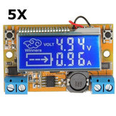 5Pcs DC-DC Step Down Power Supply Adjustable Module With LCD Display Without Housing Case