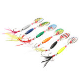 ZANLURE 6PCS 9CM Spoon Metal Fishing Lures Spinner Baits CrankBaits Hooks Baits Tackle Tools