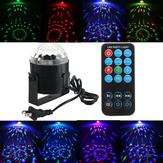 3W RGB LED Crystal Magic Ball Stage Effect Light Projector With Remote Control For Disco Xmas Party