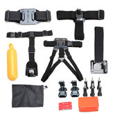 15 In 1 Shoulder Chest Harness Belt Strap Mount Adapter Kit For GoPro Hero 4 3 SJCAM Xiaomi Yi Camera