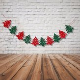 10 PCS Christmas Tree Bunting Garland Banner String Christmas Hanging Decoration