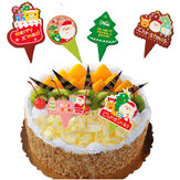 100Pcs Christmas Cupcake Topper Cake Wrappers Decoration Accessories Backing Decoration