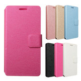 Silk Grain Flip Leather Wallet Case Card Slot PC Cover Stand For Huawei Honor 7