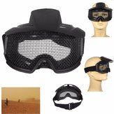 FJ-G007 CS Airsoft Explosion-proof Goggles Glasses Eyewear Eye Protection Mask Steel Mesh