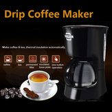 220-240V 600ml SEILER Black Drip Coffee Maker Machine Homade Coffee Tea Machine
