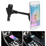 3 in 1 Car Cigarette Lighter Phone Holder With 2 USB Ports & Cigarette Lighter