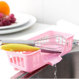Kitchen Plastic Draining Tray Dish Drainer Drying Rack Tray Sink Holder Storage Organization Basket