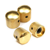 4PCS Gold Metal Dome Knob Volume Tone Control Knob for Guitar Bass