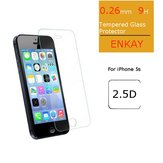 ENKAY Front 0.26m 9H Hardness 2.5D Explosion-proof Tempered Glass Protectors For iPhone 5/5S