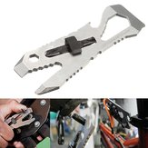 IPRee Outdoor Portable EDC Tool Stainless Steel Wrench 1/4'' Hex Screwdriver Rasp Bottle Opener
