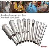 10pcs Diamond Hole Saw Drill Bit Set 3mm-13mm Tile Ceramic Glass Porcelain Marble Hole Saw