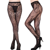 Sexy Lace Multi Pattern Tattoo Mesh Pantyhose Fishnet Deodorize Breathable Stockings